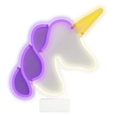 Neon LED light Unicorn with base
